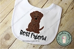 Labrador Dog Applique Design